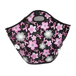 PINK Ribbons & Flowers Insulated Shopping Tote