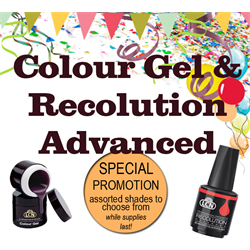 COLOUR GEL  & RECOLUTION  ADVANCED CLEAR-OUT