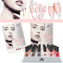 La Belle vie! Nail polish Display  7 x 8ml