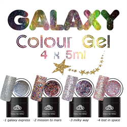 GALAXY - Colour Gel Glitter set