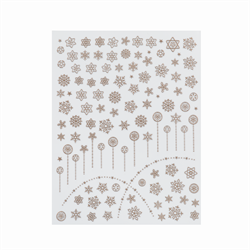 Snowflake Decals - White