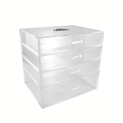 Color Gel Acrylic Organizer, with 4 Drawers  - Empty