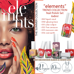 Elements Trend Collection Nail Polish  6 x 8ml
