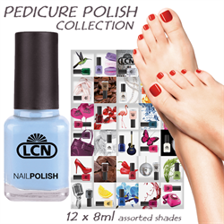 Pedicure Polish Collection 12 x 8ml - assorted Shades